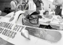 Tyrrell P34 6 wheeler F1 car,  Peterson & Deppailler. French GP  F1 1977 pit close up